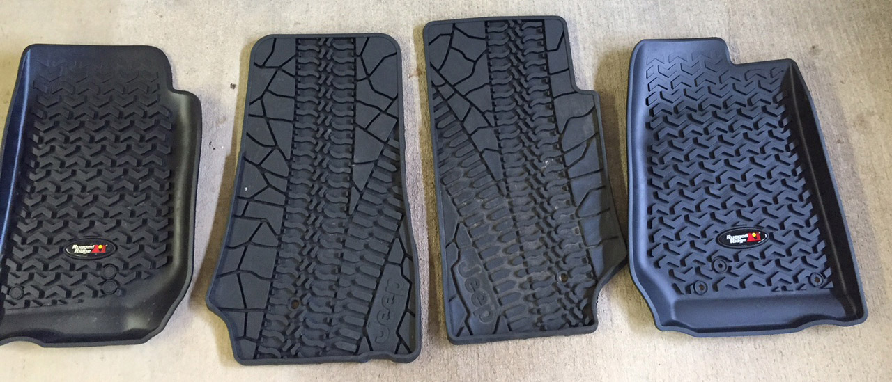 comparison of new rugged ridge mats versus the jeep heavy duty mats more surface coverage